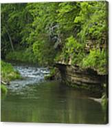 Whitewater River Spring 5 B Canvas Print