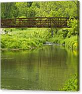 Whitewater River Spring 7 Bridge Canvas Print