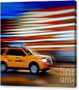 Whizzing Along Canvas Print