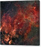 Widefield View Of He Crescent Nebula Canvas Print