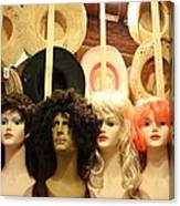 Wigs And Hats Canvas Print