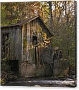 Wilbanks Mill On Dicks Creek Canvas Print