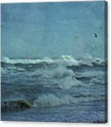 Wild Blue - High Surf - Outer Banks Canvas Print