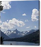 Wild Goose Island Floats In St Mary Lake Canvas Print