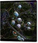 Wild Grapes Abstracted Canvas Print