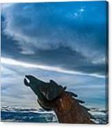 Wild Horse Sculpture Canvas Print