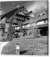 Wilderness Lodge Resort Beach Walt Disney World Prints Black And White Canvas Print