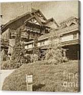 Wilderness Lodge Resort Beach Walt Disney World Prints Vintage Canvas Print
