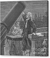 William And Caroline Herschel, German Canvas Print
