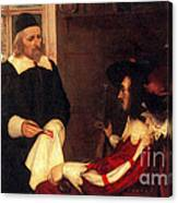 William Harvey Demonstrating Circulation Canvas Print