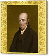 William Hyde Wollaston, English Chemist Canvas Print