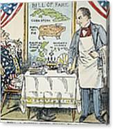 William Mckinley Cartoon Canvas Print