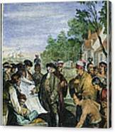 William Penns Treaty, 1682 Canvas Print