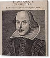 William Shakespeare First Folio Canvas Print