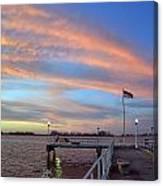Williams Pier During Sunrise In Gulfport Florida Canvas Print
