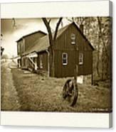 Williston Mill - Sepia Canvas Print