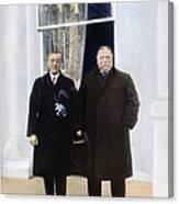 Wilson & Taft: White House Canvas Print