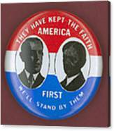 Wilson Campaign Button Canvas Print