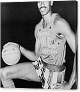 Wilt Chamberlain, Wearing Uniform Canvas Print