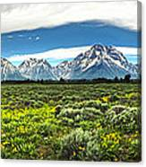 Wind River Range In West Central Wyoming - 02 Canvas Print