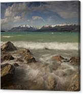 Wind Storm On Lake Pukaki Canvas Print