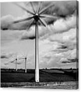 Wind Turbines Mono Canvas Print