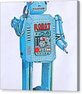 Wind-up Robot Canvas Print