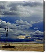 Windmill And Angry Skies Canvas Print