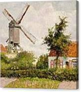 Windmill At Knokke Canvas Print