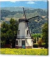 Windmill At Mission Meadows Solvang Canvas Print
