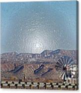 Windmill Culture Clash Canvas Print