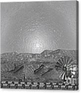 Windmill Glowin Landscape Canvas Print