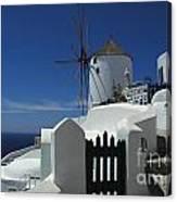Windmill Greek Islands Canvas Print