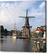 Windmill In The Nederlands Canvas Print