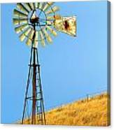 Windmill On Golden Hill Canvas Print