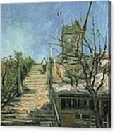 Windmill On Montmartre Canvas Print