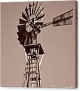 Windmill Sepia Canvas Print