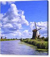 Windmills In Holland Canvas Print
