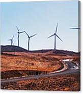 Windmills Near El Chorro Canvas Print