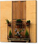 Window And Balcony In Vicenza Canvas Print