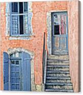 Window And Doors Provence France Canvas Print