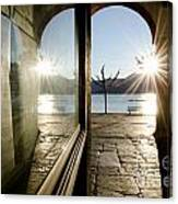 Window And Sun Canvas Print