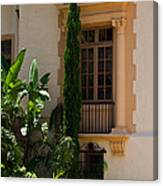 Window At The Biltmore Canvas Print
