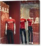 Window Display Sale With Mannequins No.0112 Canvas Print