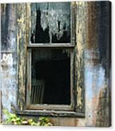 Window In Old Wall Canvas Print