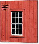 Window In Red Wall Canvas Print
