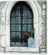 Window Of A Chapel Canvas Print