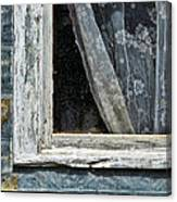 Window Of Old Abandoned Building Canvas Print
