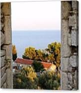 Window Of Sea Canvas Print