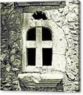 Window Of Stone Canvas Print